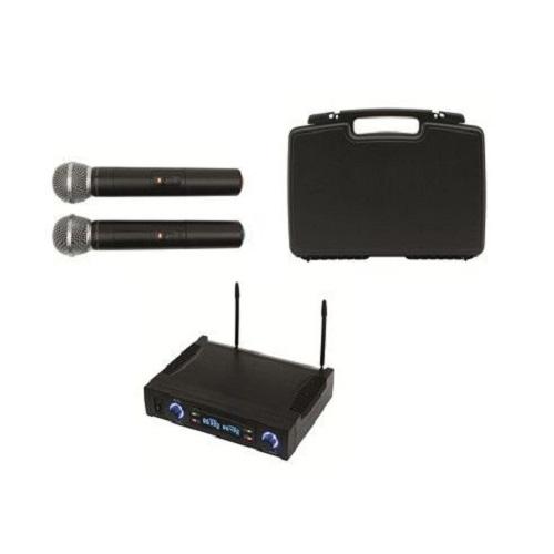 Set doua Microfoane Wireless Sal MVN 700, Culoare Neagra