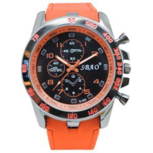 Ceas barbatesc Sport SBAO, portocaliu, Quartz