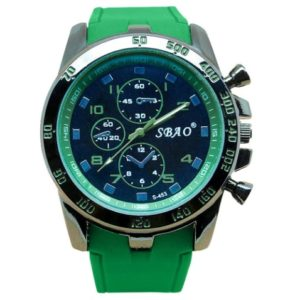 Ceas barbatesc Sport SBAO, verde, Quartz