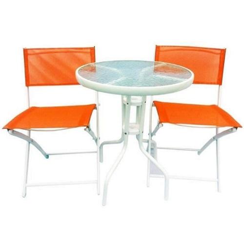 Set masa si scaune Strend Pro Gardenia Orange