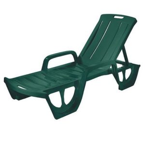 Sezlong pentru plaja sau piscina Strend Pro Florida, culoare verde
