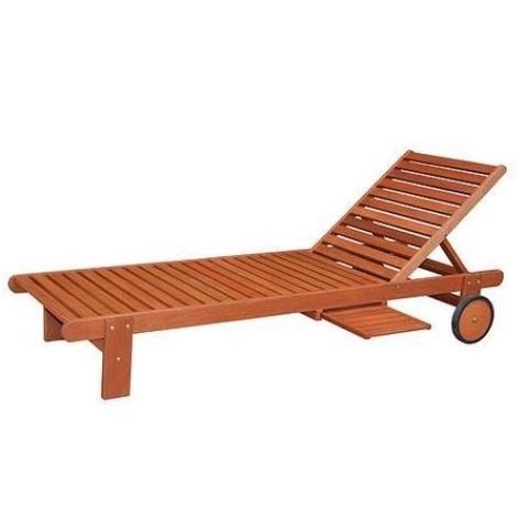 Sezlong din lemn Strend Pro Langeland