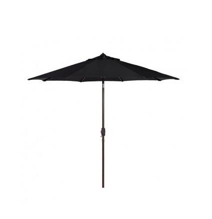 Umbrela neagra pentru gradina sau terasa Strend Pro Zoe Black
