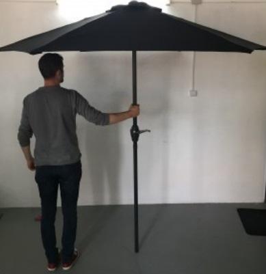 Umbrela pentru gradina Strend Pro Zoe Black, 270 cm