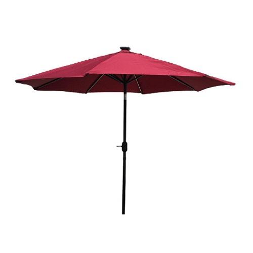 Umbrela pentru Gradina sau Terasa Strend Pro Marakesh, cu panou Solar si Leduri