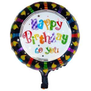 Balon Aniversar Happy Birthday to you, 45cm, Folie de Aluminiu