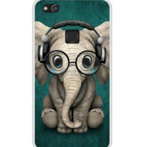 Husa Telefon Huawei P10 Lite - Elefant cu casti si ochelari