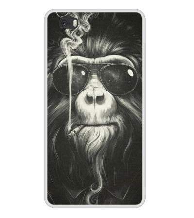 Husa Telefon Huawei P8 Lite - Maimuta care fumeaza