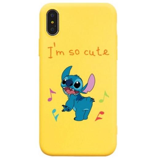 Husa Telefon iPhone Galbena Stitch