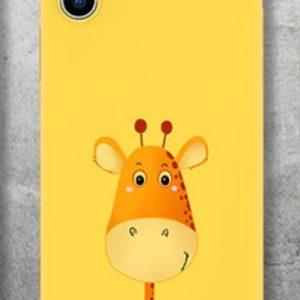 Husa Telefon iPhone5, iPhone 6, iPhone 7, iPhone 8 TPU Galbena - Girafa