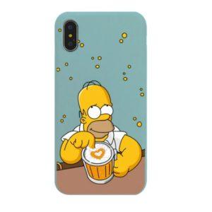Husa Telefon iPhone 7Plus, 8Plus Silicon - Homer Simpson