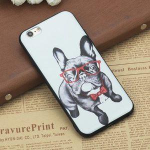 Husa Telefon iPhone - Caine cu Papion si Ochelari