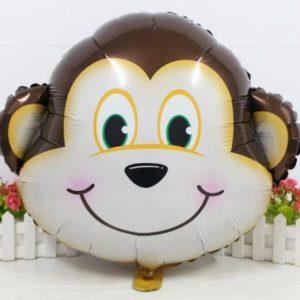 Balon mare pentru petreceri copii, model maimuta, 62x55cm