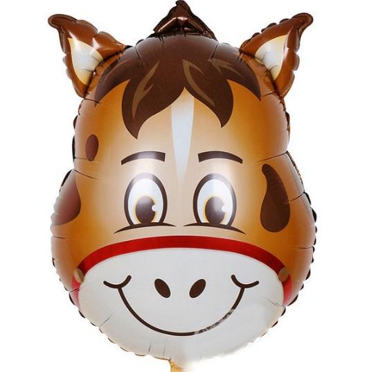 Balon mare pentru petreceri copii, model magar, 64x45cm, folie de aluminiu