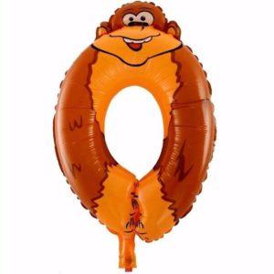 Balon Cifra 0 Maimuta pentru Petrecere Ziua Copilului