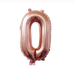 Balon folie cifra 0, 101cm, petreceri copii