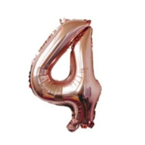 Balon mare cifra 4, 101cm, rose-gold