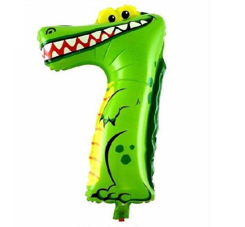 Balon Cifra 7 Crocodil Heliu pentru Petrecere Ziua Copilului