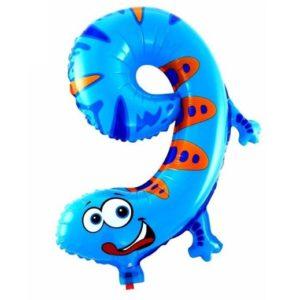 Balon Cifra 9 Omida Heliu pentru Petrecere Ziua Copilului