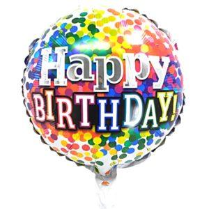 Balon folie Happy Birthday, 44cm, aer sau heliu - Baloane Petreceri Copii
