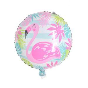 Balon Heliu Folie Aluminiu Flamingo Roz, 44cm