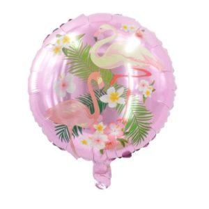 Balon folie aluminiu pasari Flamingo, 44cm, aer sau heliu
