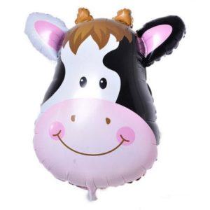 Balon mare pentru petreceri copii, model vaca, 64x44cm, folie de aluminiu