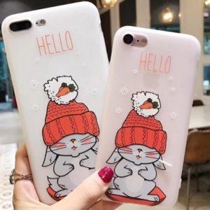 Husa Telefon iPhone - Iepure cu caciula si morcovi