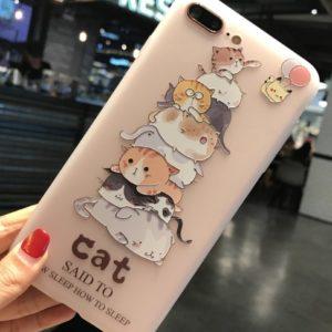 Husa Telefon iPhone - Pisici si Pikachu cu baloane