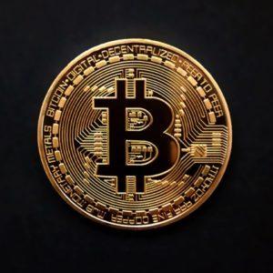 Moneda de colectie Bitcoin, aurie