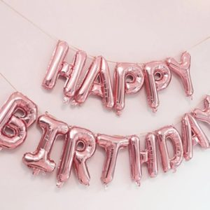 Set Baloane Litere Happy Birthday Aurii
