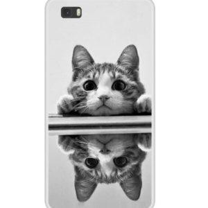Husa Telefon Huawei P8 Lite – Pisica la oglinda