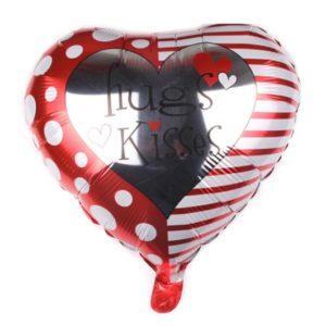Baloane cu Heliu - Balon in Forma de Inima, Hugs Kisses