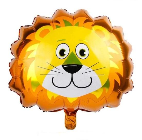 Baloane cu Heliu Animale - Balon Mare Leu, Petreceri Copii, 55cm