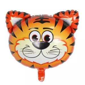 Baloane Animale - Balon Mare Cap de Tigru, 54x54cm, Heliu sau Aer