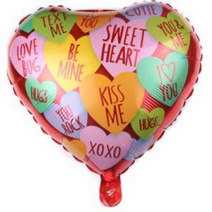 Balon in Forma de Inima Cadou Petreceri de Valentine's Day – Mesaje in Engleza