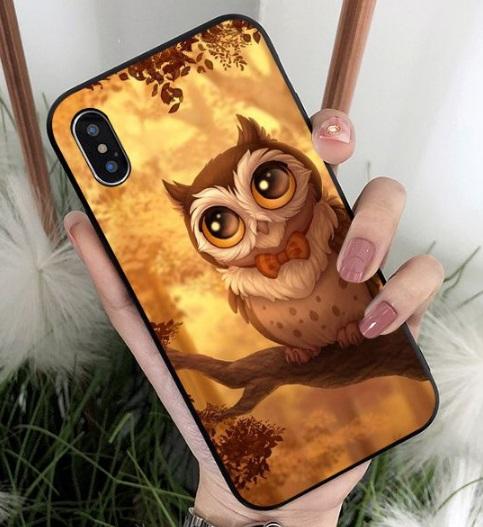 Husa Telefon iPhone - Model Bufnita cu papion