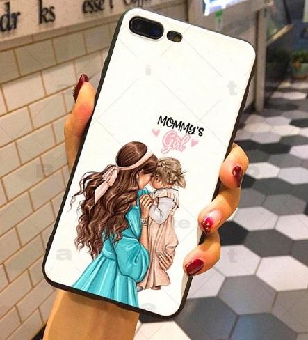 Husa Telefon iPhone 7 Plus / iPhone 8 Plus - Model Mama si Fiica
