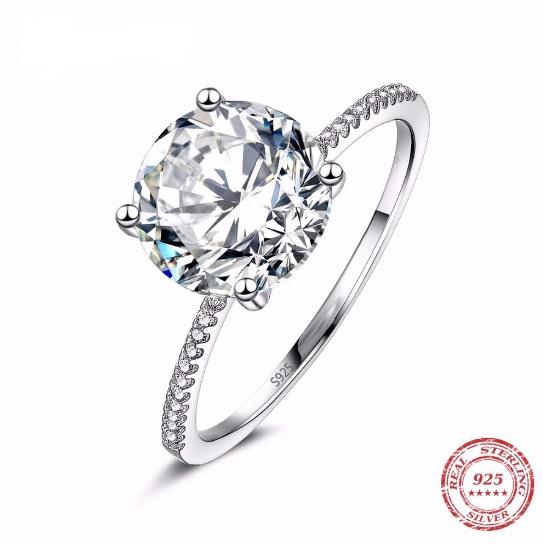 Inel de logodna din argint 925, cu piatra zirconiu