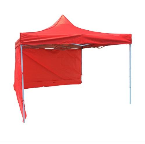 Pavilion pentru gradina rosu, 3x3m, targuri sau piete