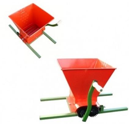Zdrobitor de struguri manual, tamburi reglabili, 25litri