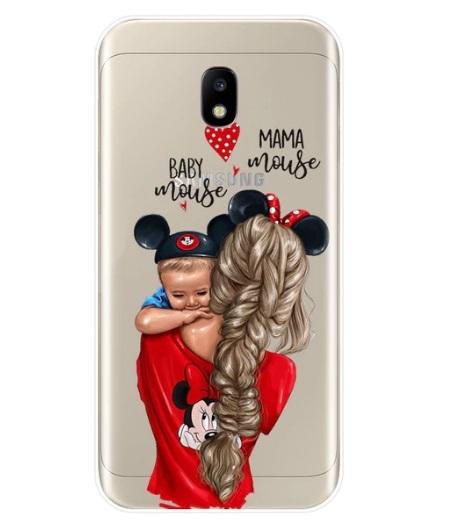 Husa Telefon Samsung Galaxy A8 2018 - Mama Mouse & Baby Mouse