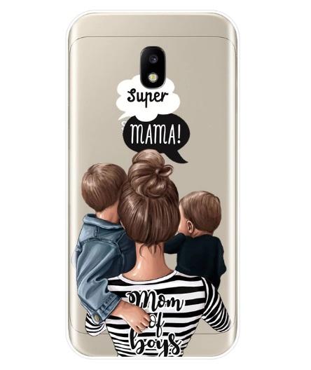 Husa Telefon Samsung Galaxy A8 2018 - Super Mama! Mama de Baieti