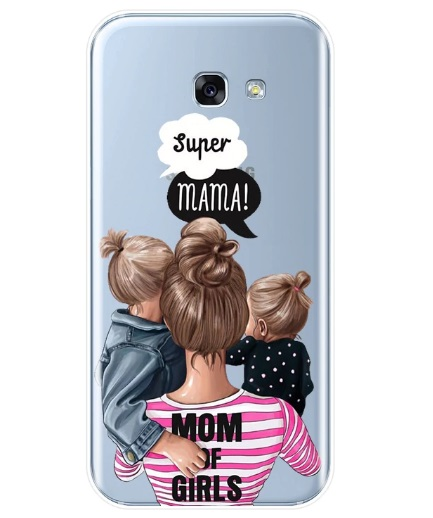 Husa Telefon Samsung Galaxy A8 2018 - Super Mama! Mama de Fete