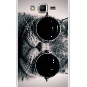 Husa Telefon Samsung Galaxy J2 Prime – Pisica cu ochelari