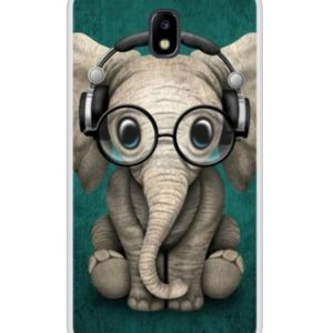 Husa Funny Telefon Samsung Galaxy J5 2017 – Elefant cu casti si ochelari