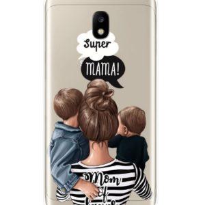Husa Telefon Samsung Galaxy J7 2017 (J730) - Super Mama! Mama de Baieti