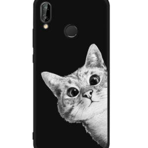Husa Telefon Huawei P8 Lite 2017, culoare neagra, imagine pisica