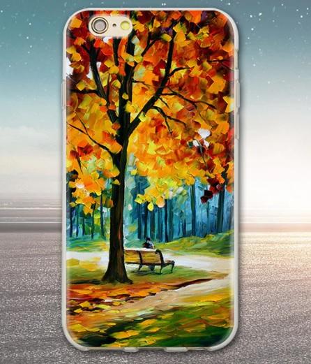 Husa Telefon iPhone 6 / iPhone 6s - Model Toamna, copac, frunze galbene