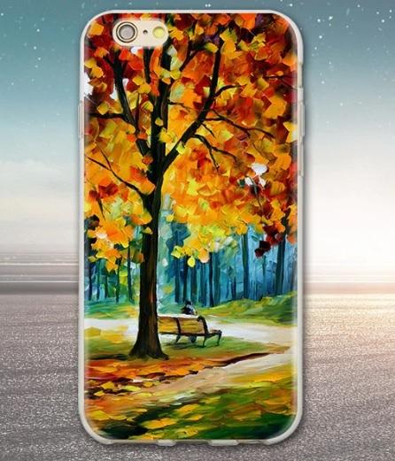 Husa Telefon iPhone 7 / iPhone 8 - Toamna, copac, frunze galbene